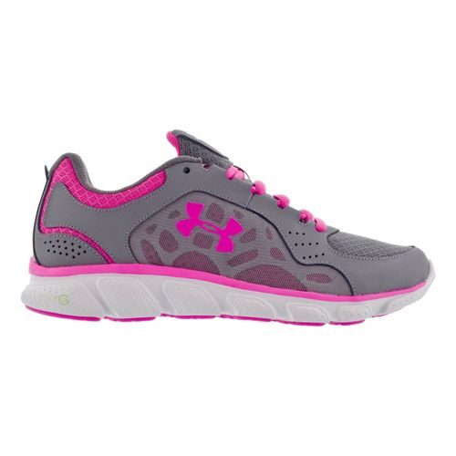 Womens Under Armour Micro G Assert IV Running Shoe - Graphite/White 11