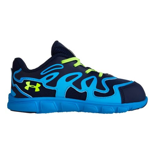 Kids Under Armour Boys Infant Spine Evo Running Shoe - Midnight Navy 4