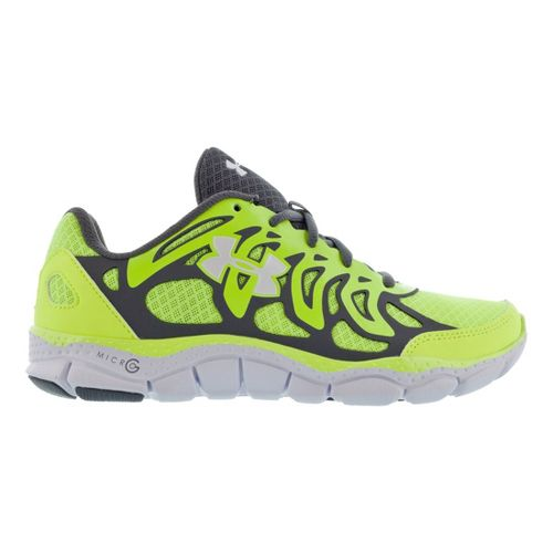 Kids Under Armour Boys GS Micro G Engage Running Shoe - High Vis Yellow 5.5 ...