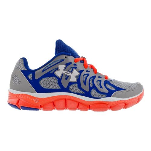 Kids Under Armour Boys GS Micro G Engage Running Shoe - Steel 5.5
