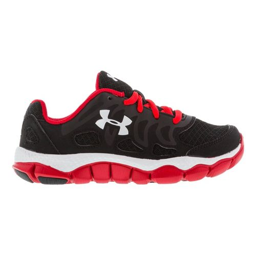 Kids Under Armour Boys PS Engage Running Shoe - Black/Red 1
