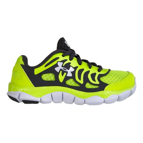 Kids Under Armour Boys PS Engage Running Shoe - High Vis Yellow 13.5