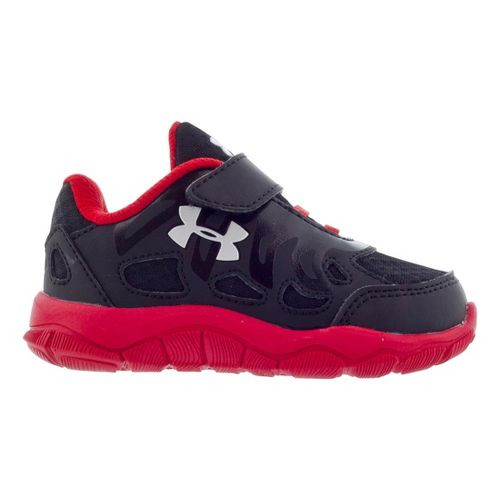 Kids Under Armour Boys Infant Engage Running Shoe - Black/Red 4