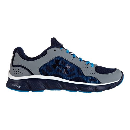 Kids Under Armour Boys GS Micro G Assert IV Running Shoe - Gravel 4