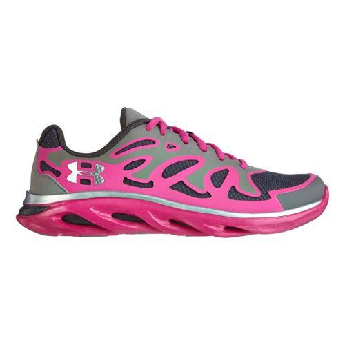 Kids Under Armour Girls GS Micro G Spine Evo Running Shoe - Steel 6.5