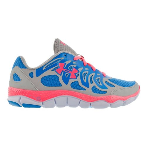 Kids Under Armour Girls GS Micro G Engage Running Shoe - Aluminum 3.5