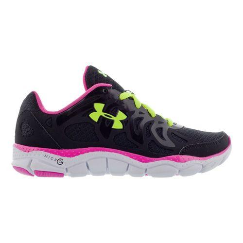 Kids Under Armour Girls GS Micro G Engage Running Shoe - Black 7