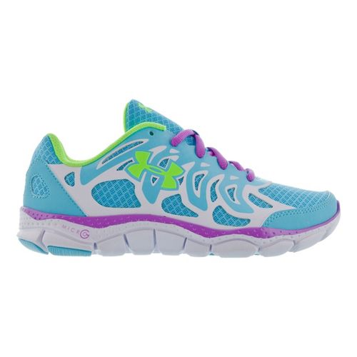 Kids Under Armour Girls GS Micro G Engage Running Shoe - Cruise 5.5