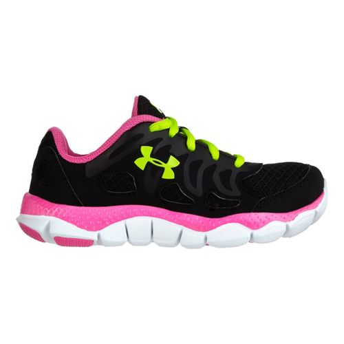Kids Under Armour Girls PS Engage Running Shoe - Black 1