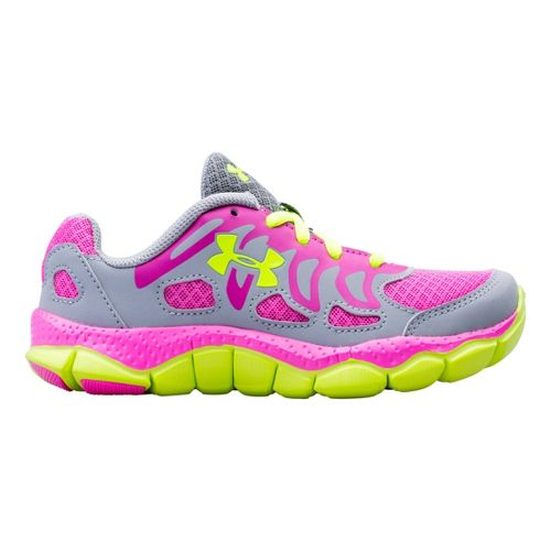 Kids Under Armour Girls PS Engage Running Shoe - Steel 11