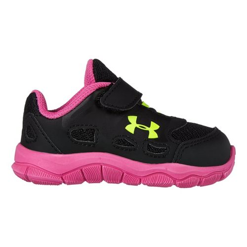 Kids Under Armour Girls Infant Engage Running Shoe - Black 6