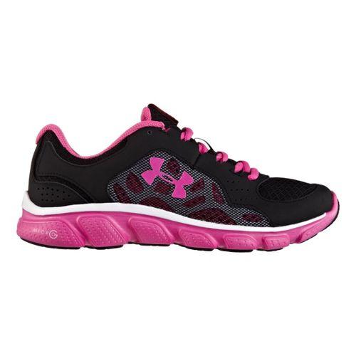 Kids Under Armour Girls GS Micro G Assert IV Running Shoe - Black/White 4.5