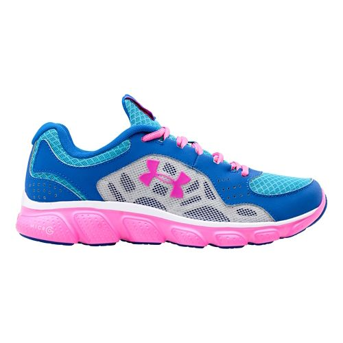 Kids Under Armour Girls GS Micro G Assert IV Running Shoe - Scatter 4.5