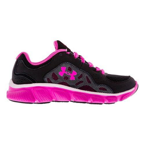 Kids Under Armour Girls PS Assert IV Running Shoe - Black/White 3