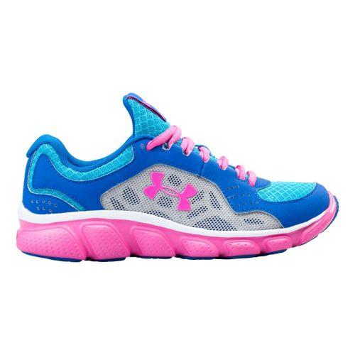 Kids Under Armour Girls PS Assert IV Running Shoe - Scatter 2.5