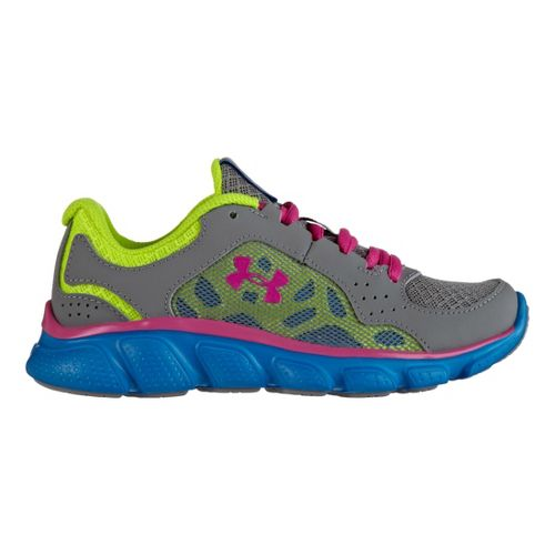 Kids Under Armour Girls PS Assert IV Running Shoe - Steel 13