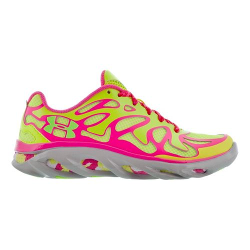 Kids Under Armour Girls GS Micro G Spine Evo MC Running Shoe - High Vis ...