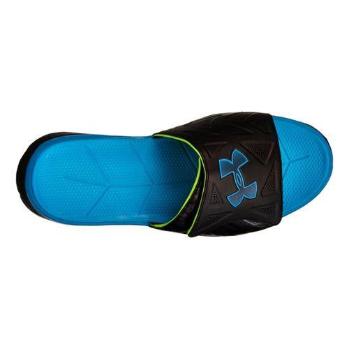 Mens Under Armour Spine II SL Sandals Shoe - Black/Blue 10