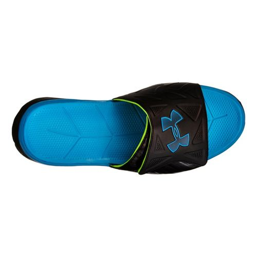 Mens Under Armour Spine II SL Sandals Shoe - Black/Blue 15