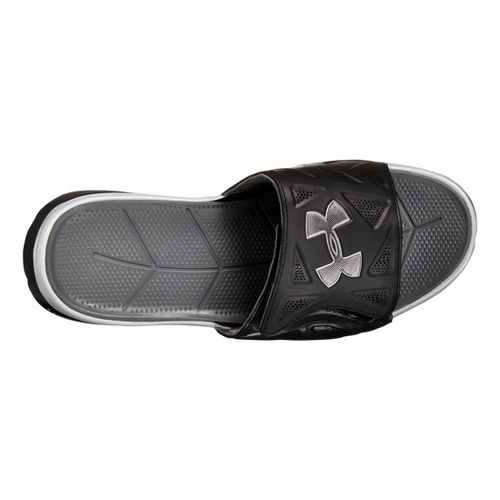 Mens Under Armour Spine II SL Sandals Shoe - Black/Grey 7