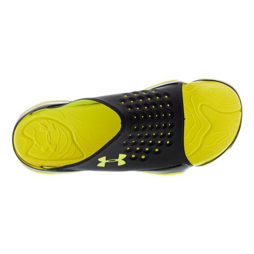Mens Under Armour Compression EV SL Sandals Shoe - Black/Yellow 12