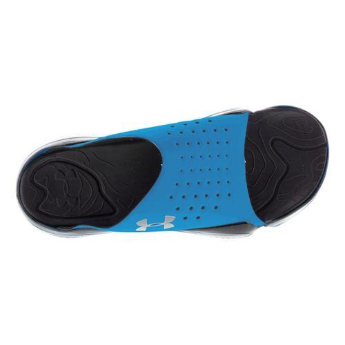 Mens Under Armour Compression EV SL Sandals Shoe - White/Blue 8
