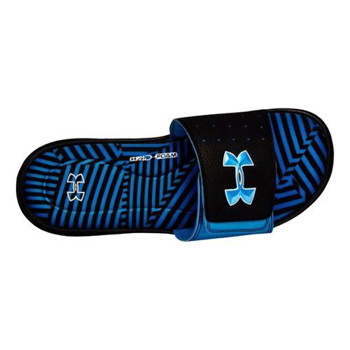 Mens Under Armour Ignite Illusion III SL Sandals Shoe - Black/Blue 11