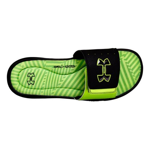 Mens Under Armour Ignite Illusion III SL Sandals Shoe - Black/Neon Green 13