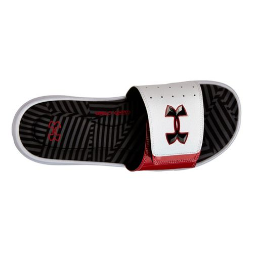 Mens Under Armour Ignite Illusion III SL Sandals Shoe - White/Red 10