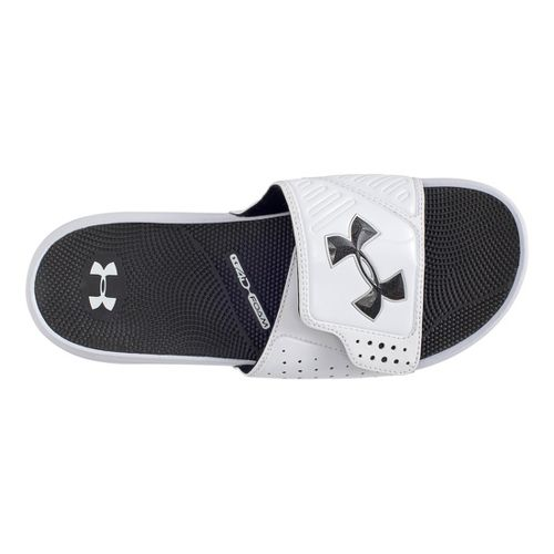 Mens Under Armour Micro G EV SL Sandals Shoe - White/Black 9