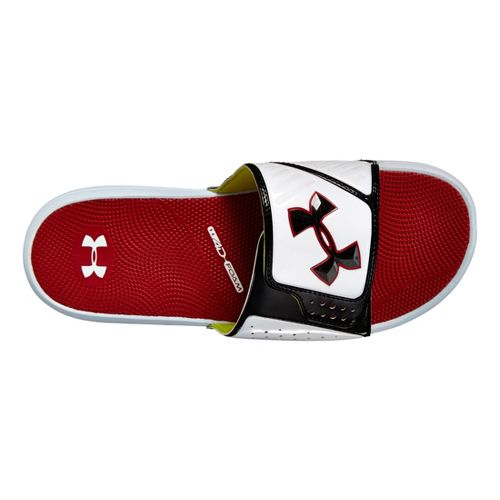 Mens Under Armour Micro G EV SL Sandals Shoe - White/Red 10