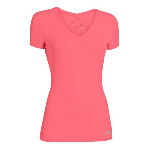 Womens Under Armour Armourvent Short Sleeve Technical Tops - Brilliance XS