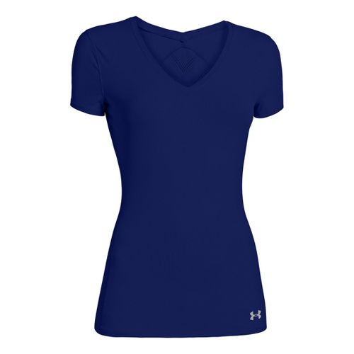 Womens Under Armour Armourvent Short Sleeve Technical Tops - Caspian L