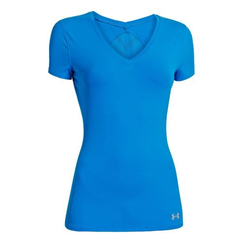 Womens Under Armour Armourvent Short Sleeve Technical Tops - Electric Blue XS