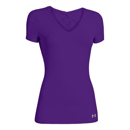 Womens Under Armour Armourvent Short Sleeve Technical Tops - Pride L