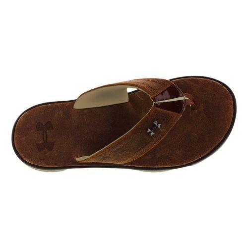 Mens Under Armour Toxic Six Leather T Sandals Shoe - Dune 8