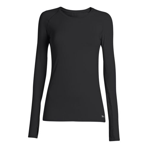 Womens Under Armour Armourvent Long Sleeve No Zip Technical Tops - Black XS