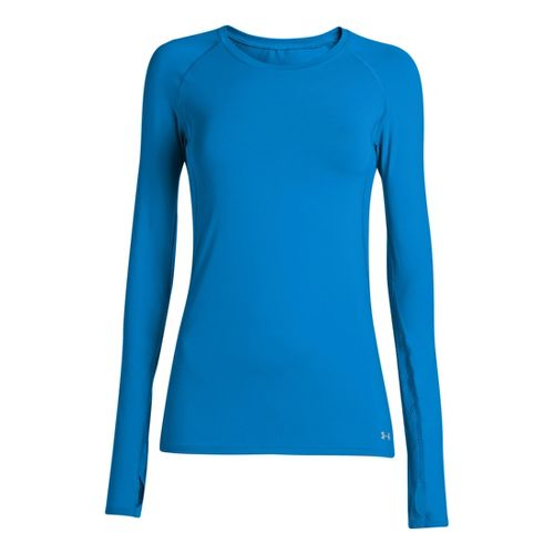Womens Under Armour Armourvent Long Sleeve No Zip Technical Tops - Electric Blue XS