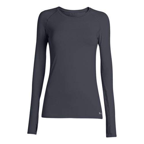 Womens Under Armour Armourvent Long Sleeve No Zip Technical Tops - Lead M