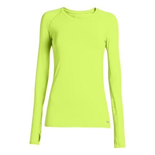 Womens Under Armour Armourvent Long Sleeve No Zip Technical Tops - X-Ray S