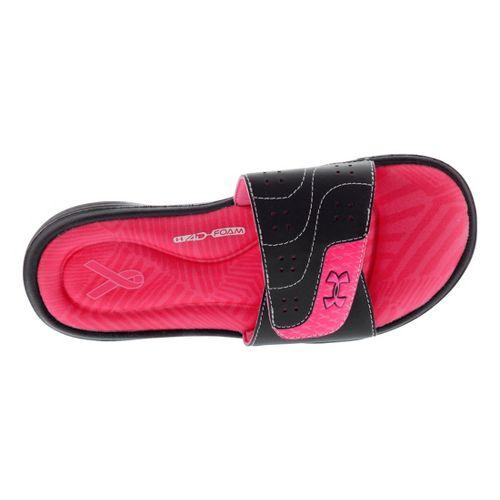 Womens Under Armour Ignite PIP VI SL Sandals Shoe - Black 8