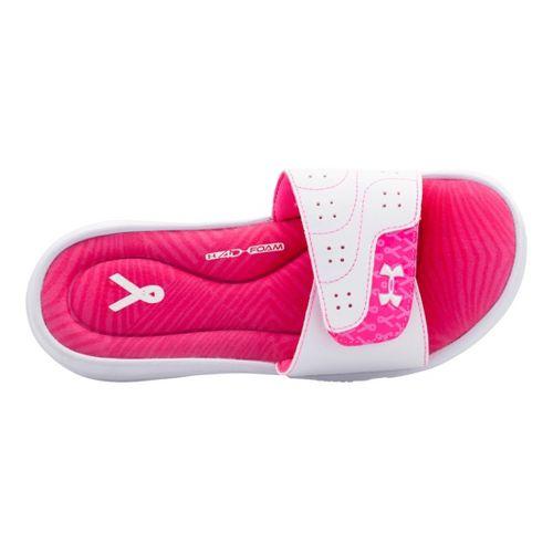 Womens Under Armour Ignite PIP VI SL Sandals Shoe - White 10