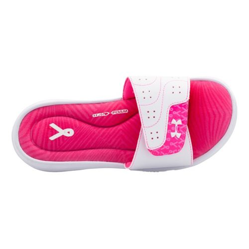 Womens Under Armour Ignite PIP VI SL Sandals Shoe - White 9