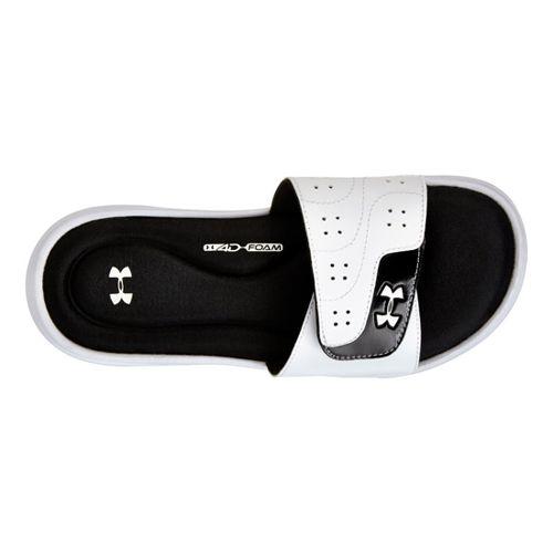 Womens Under Armour Ignite VI SL Sandals Shoe - White/Black 9