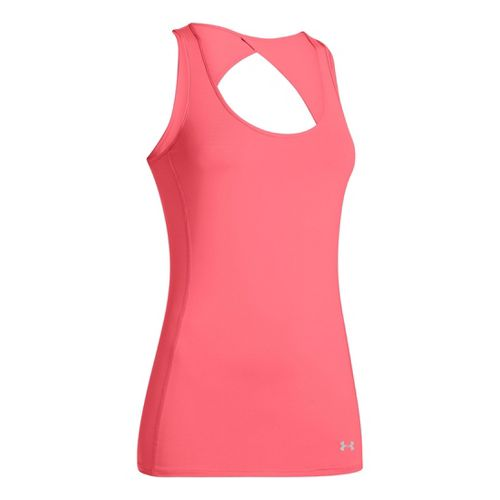 Womens Under Armour Armourvent Tanks Technical Tops - Brilliance L