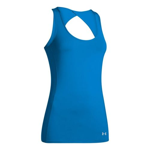 Womens Under Armour Armourvent Tanks Technical Tops - Electric Blue L