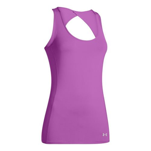 Womens Under Armour Armourvent Tanks Technical Tops - Exotic Bloom S