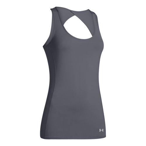 Womens Under Armour Armourvent Tanks Technical Tops - Lead M