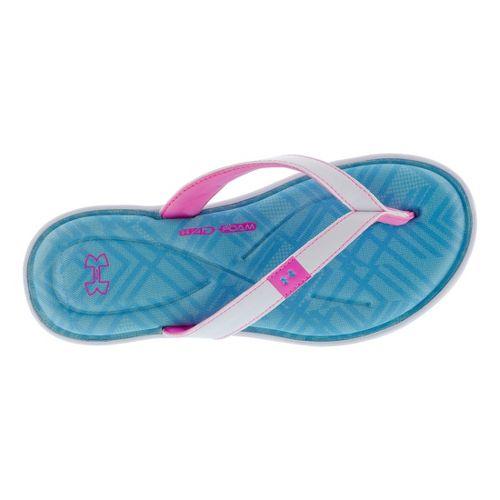 Womens Under Armour Marbella IV Grid T Sandals Shoe - White/Blue 6