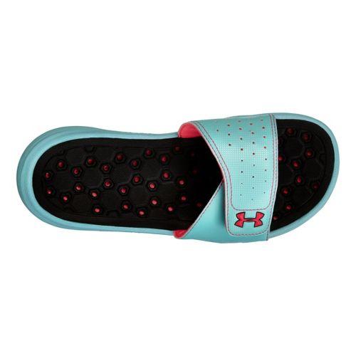 Womens Under Armour Playmaker VI SL Sandals Shoe - Light Blue 8